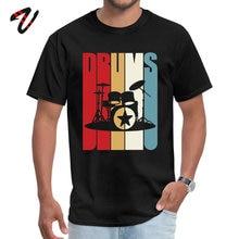 Marvel O-Neck Men T Shirt Retro Drums Drummer Gift Idea 70s 80s Vintage Tshirt Street T-Shirt Funky Prince Tee Wholesale