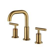 MTTUZK 304 stainless Steel Brushed Gold Bathtub Bathroom Faucet Hot Cold Water mixer Tap Basin Fuacet Black Bath Split Faucet