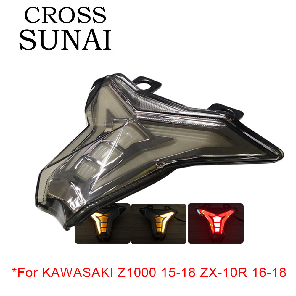 For KAWASAKI Z1000 2015 2016 2017 2018 ZX 10R 2016 2018 Motorcycle Rear LED Tail Light