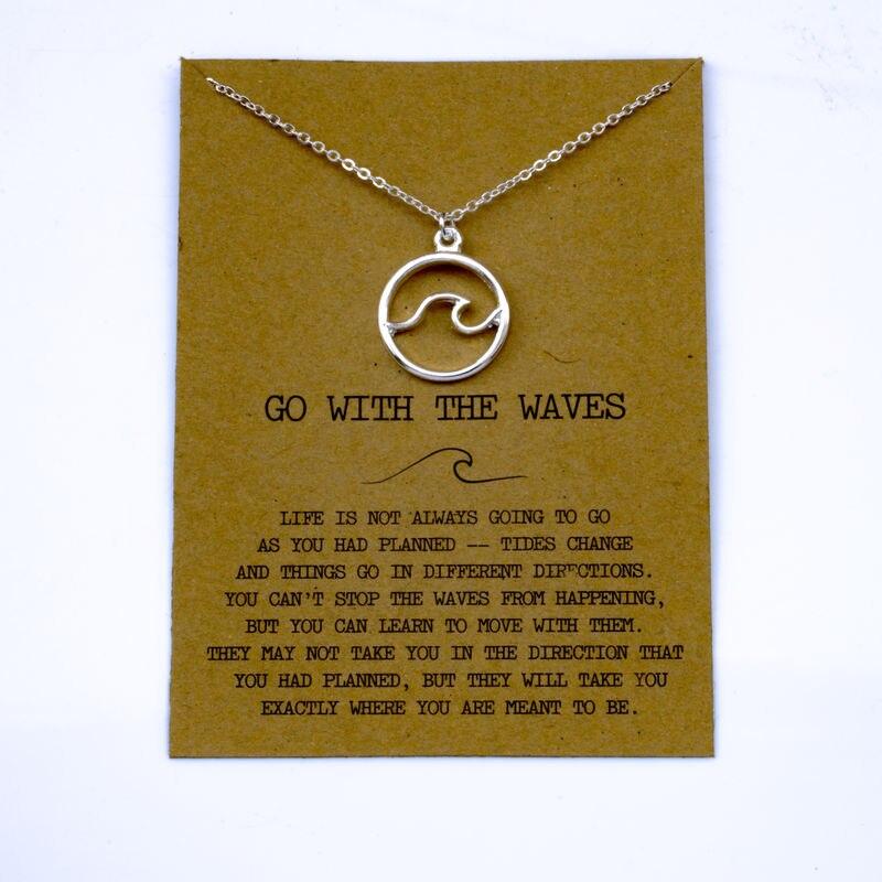 """SanLan 1 шт идут в комплекте ожерелье с подвеской """"волны"""" Океан ювелирные изделия - Окраска металла: 25"""