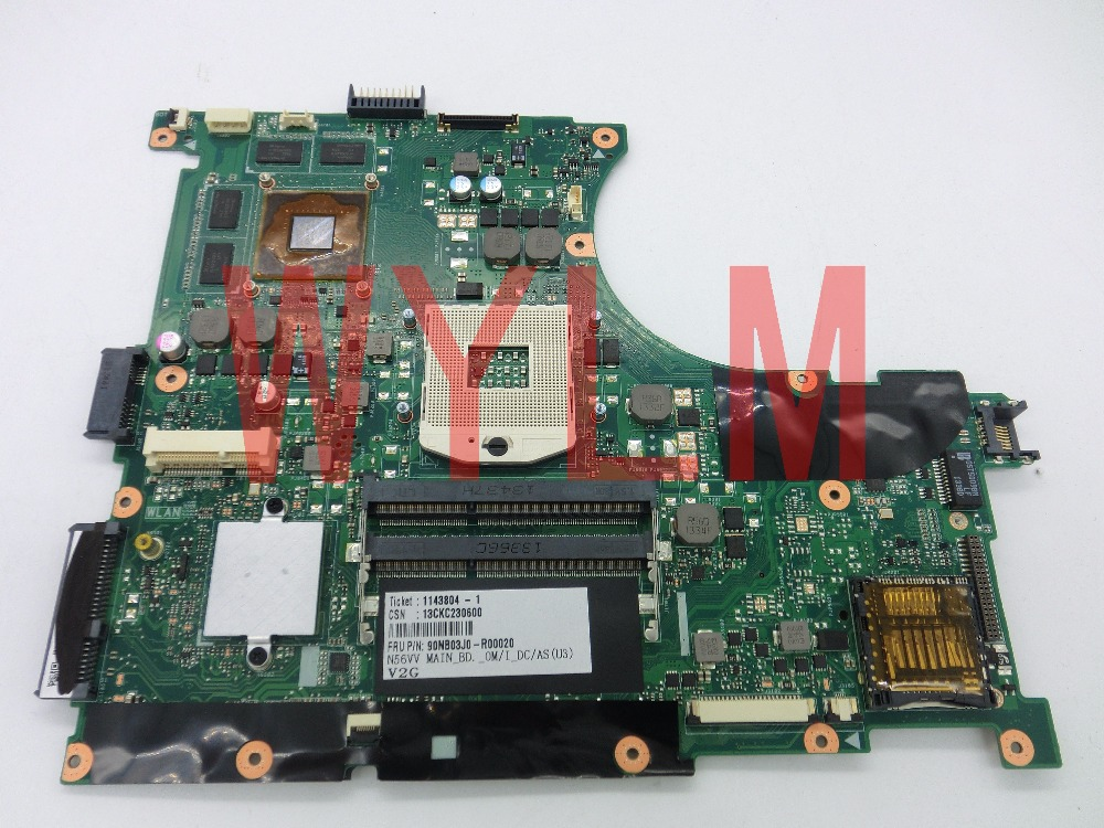 NEW original N56V  N56VV  N56VM motherboard MAIN BOARD  GT750M  N14P-GT-A2  2G   free shipping 100% Tested 100% tested for washing machines board xqsb50 0528 xqsb52 528 xqsb55 0528 0034000808d motherboard on sale