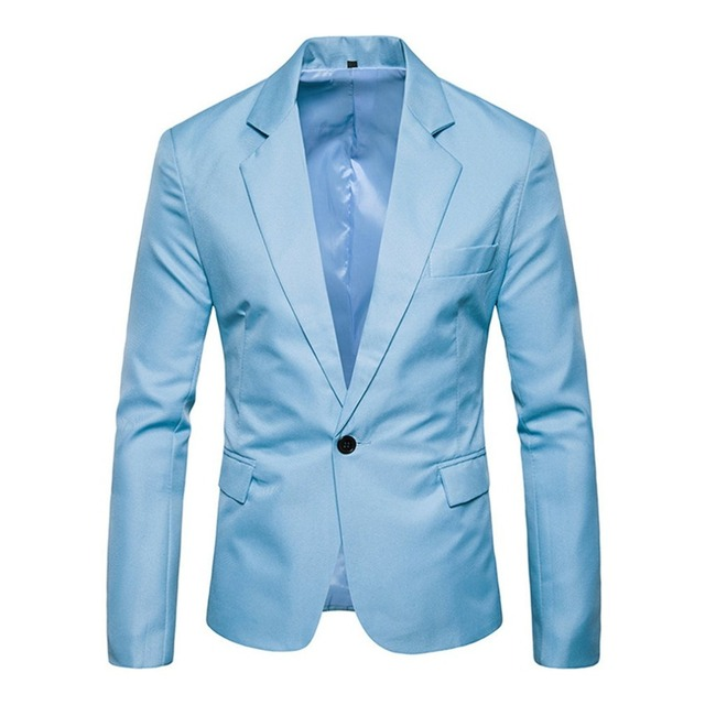 KLV 2018 Autumn Men Suit Jackets Slim Tops Wedding Blazer Coats Plaid Elegant Regular