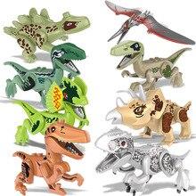 8pcs/Set Super Heroes Jurassic World Dinosaurs Figures Tanystropheus Tyrannosaurus Rex Building Block Toys Children Toys BKX30 цена и фото