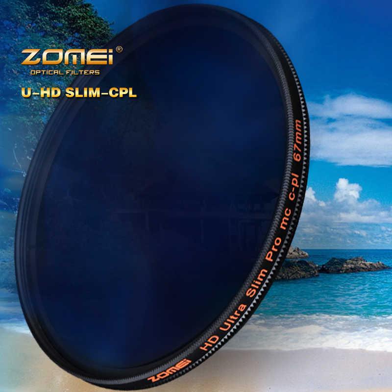 ZOMEI HD Optik Cam CPL filtre İnce Çok Kaplamalı Dairesel Polarize Polarize lens filtresi 40.5/49/52/ 55/58/62/67/72/77/82mm