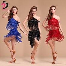 d694a903 Vestidos de baile latino Para mujeres vestido de competición falda borla de  seda de leche fantasía