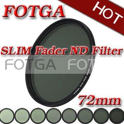 Fotga 72mm Slim fader ND filter adjustable variable neutral density ND2 to ND400 for dalr camera dvd dc offer oem