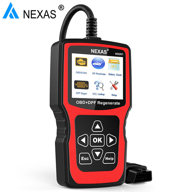 US $115 99 |Nexas NS201 Automotive Scanner OBD2 Diagnostic Tool with DPF  Regenerate Reset for Diesel Additive Light Battery Health Check-in Air Bag