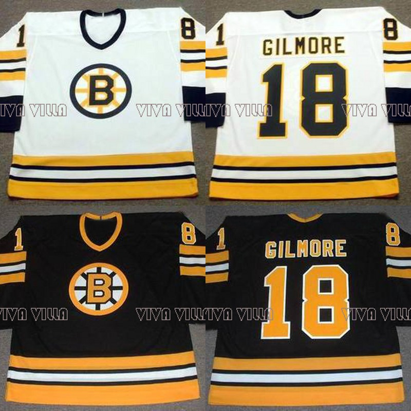 18 Happy Gilmore Hockey Jersey Boston 1996 Throwback Movie Ice Hockey Jersey All Stitched Custom Any Name Any Numver Men Jersey цены