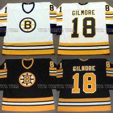 18 Happy Gilmore Hockey Jersey Boston 1996 Throwback Movie Ice Hockey  Jersey All Stitched Custom Any Name Any Numver Men Jersey eb8b66ba1
