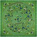Новый Саржевого Шелковый Шарф Женщин 130*130 см Евро Дизайн Круг дикие Дети Играют Печати Квадратные Шарфы Высокое Качество Подарок Шелковый платки