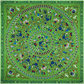 Sarga De Seda nueva Bufanda de Las Mujeres 130*130 cm Euro Diseño Círculo Niños salvajes Juego Impresión de Seda Bufandas Cuadradas de Regalo de Alta Calidad chales