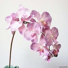 10 головок большие искусственные орхидеи цветы Европейский ретро стиль Бабочка Орхидея украшение для дома свадьбы вечеринки искусственные ...