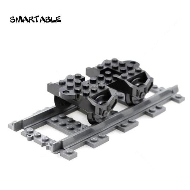 Smartable Train Wheel Base Parts zabawki budowlane dla chłopca prezent edukacja kreatywne kompatybilne główne marki miasto 2878 5 sztuk/zestaw