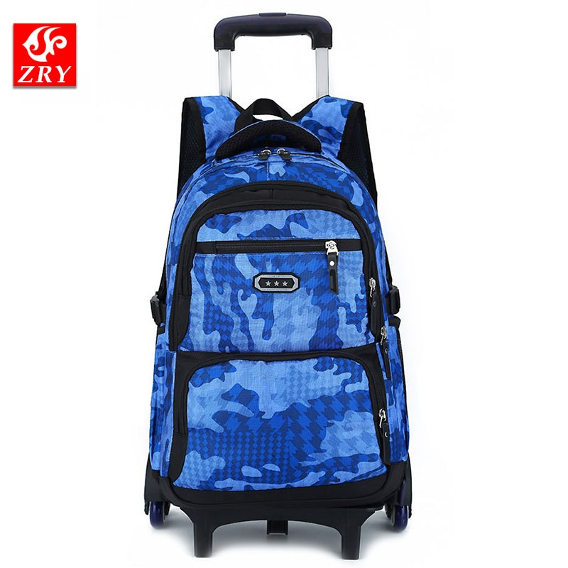 Rolling Backpack On Wheels High-Capacity School Bag Backpacks for Students Daypack Wheel ...