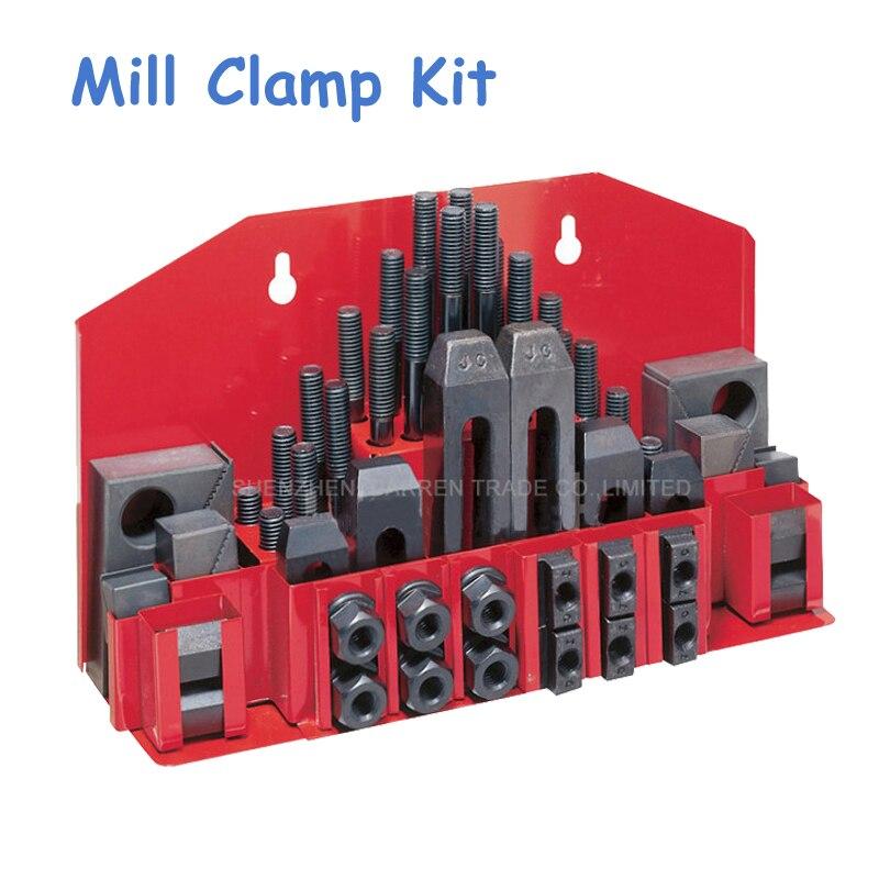 Metex Fräsmaschine Spann Set 58 stücke Mühle Clamp Kit Umge M12
