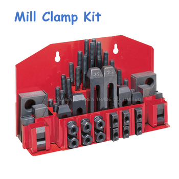 Milling Machine Clamping Set 58pcs Mill Clamp Kit Vice M12 Universal Fixture Screw Set Pressure Plate Processing Parts metex milling machine clamping set m12 58pce mill clamp kit vice