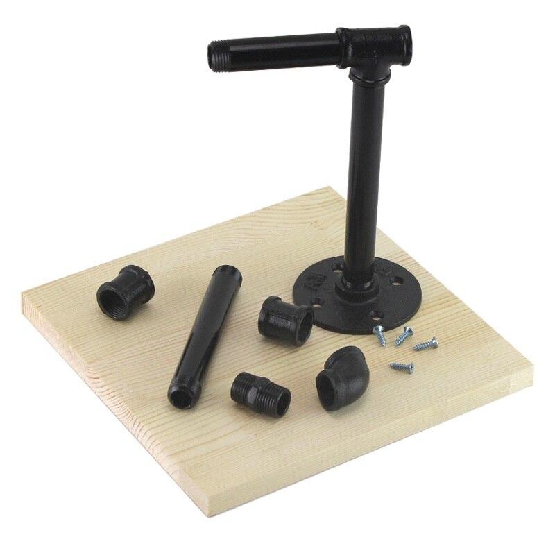 1 set Noir Workbench Super-Qualité Poterie Pâte À Modeler BRICOLAGE Art Manuel Table De Travail Base Inox Support Argile Outil Sculptural Polymère