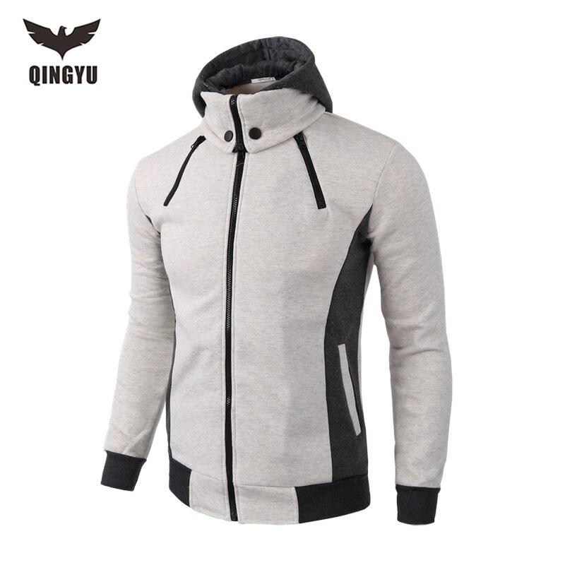 따뜻한 캐주얼 남성 땀 운동복 2018 브랜드 가을 겨울 패치 워크 두꺼운 코튼 스웨터 남성 후드 스웨터 XXL YJ