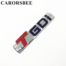 CARORSBEE New High quality TGDI T GDI Emblem Badge Decal Numeral Displacement 3D Metal Car sticker Auto Side Fender Rear Styling