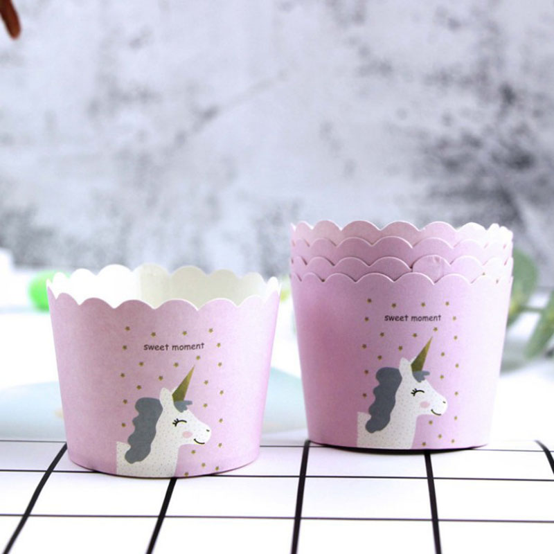 50 Pcs/lot Cute Pink Unicorn Paper Baking Cupcake Cup Liners Kitchen Cupcake Cases for cake Decoration : flower pot cupcake cases - startupinsights.org