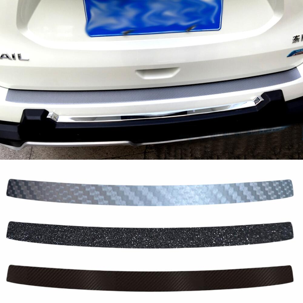 Trunk Boot Protecting Bumper Plate Molding Lid Outside Carbon Fiber Car Sticker For Nissan Xtrail X trail Rogue 2014 Car Styling epr car styling for nissan skyline r33 gtr type 2 carbon fiber hood bonnet lip