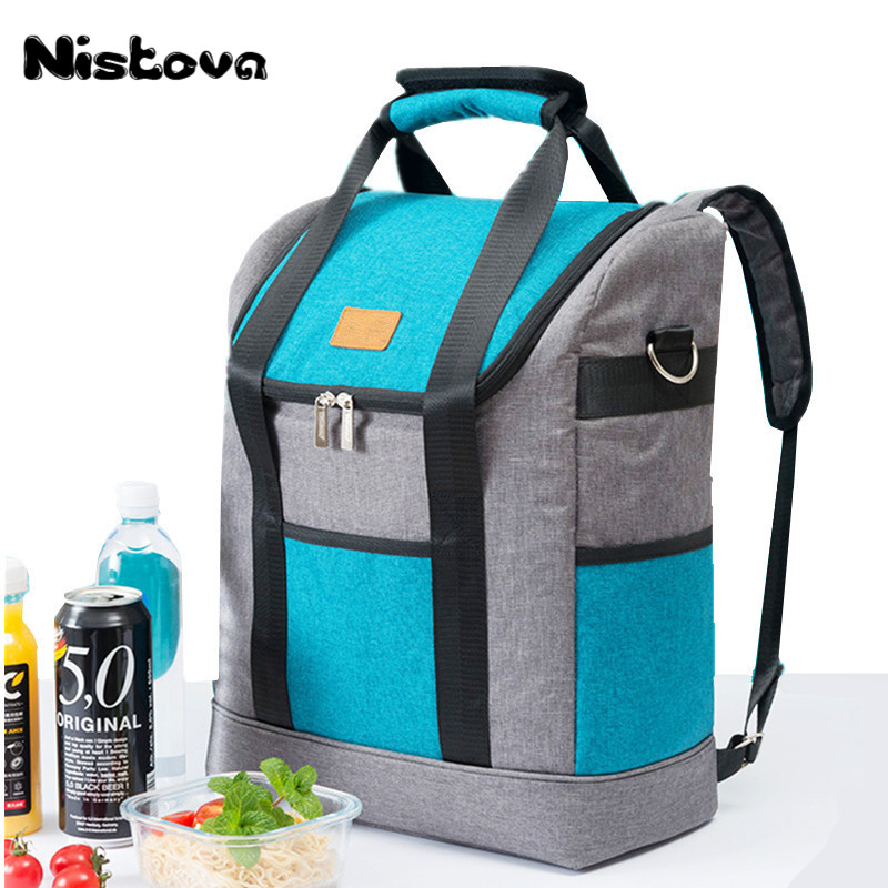 New Fashion Universal Oxford Cloth Shoulder Large Capacity Lunch Bag Insulation Cooling Bag Picnic Lunch Box Fresh Fruit Storage