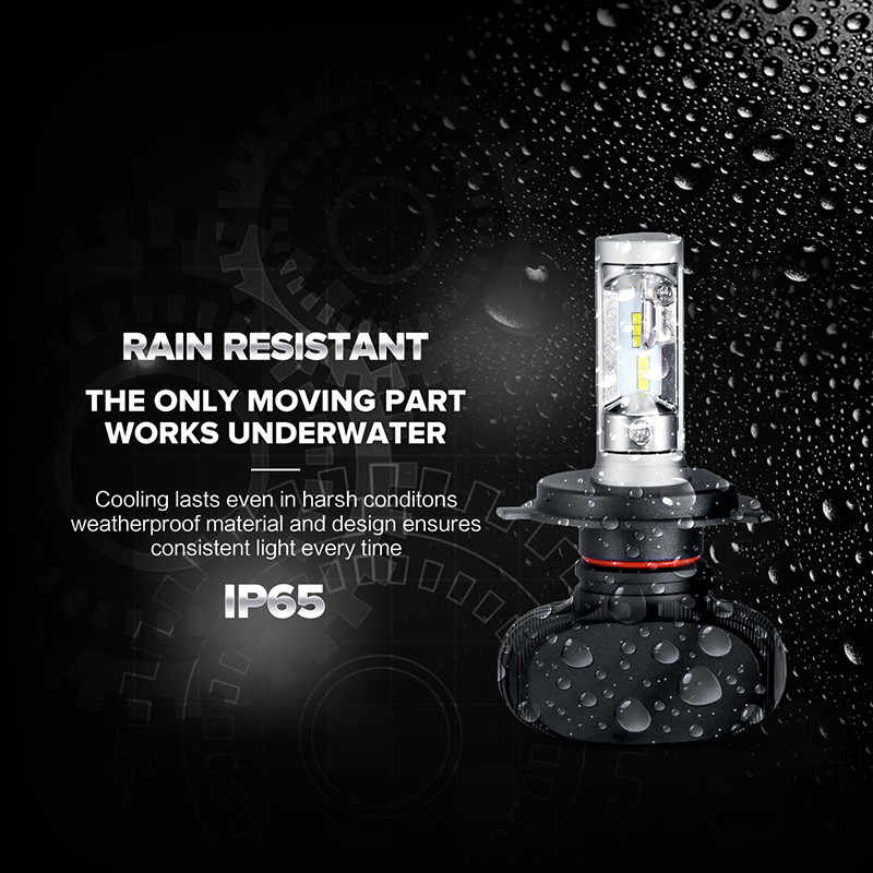 PAMPSEE S1 Auto Led H7 Headlight H11 9005 HB3 9006 HB4 Led H4 Car Bulb 6500K CSP Chip 50W 8000lm Fan-less H8 Fog Lamp All-in-one
