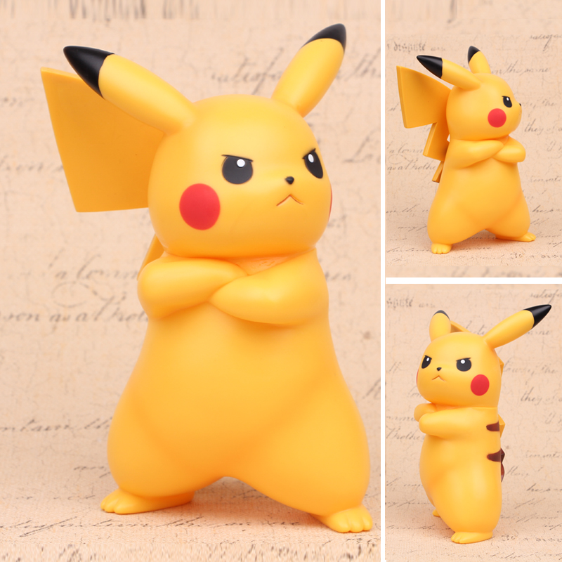 NEW hot 18cm Pikachu GO Angry face action figure toys collection Christmas gift opp 2016 new pikachu action figure hot pikachu toy anime collectible model d