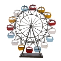 Modern Iron Ferris Wheel Model Home Decoration Accesories Children'S Room Desktop Crafts Creative Photography Props Decoracion