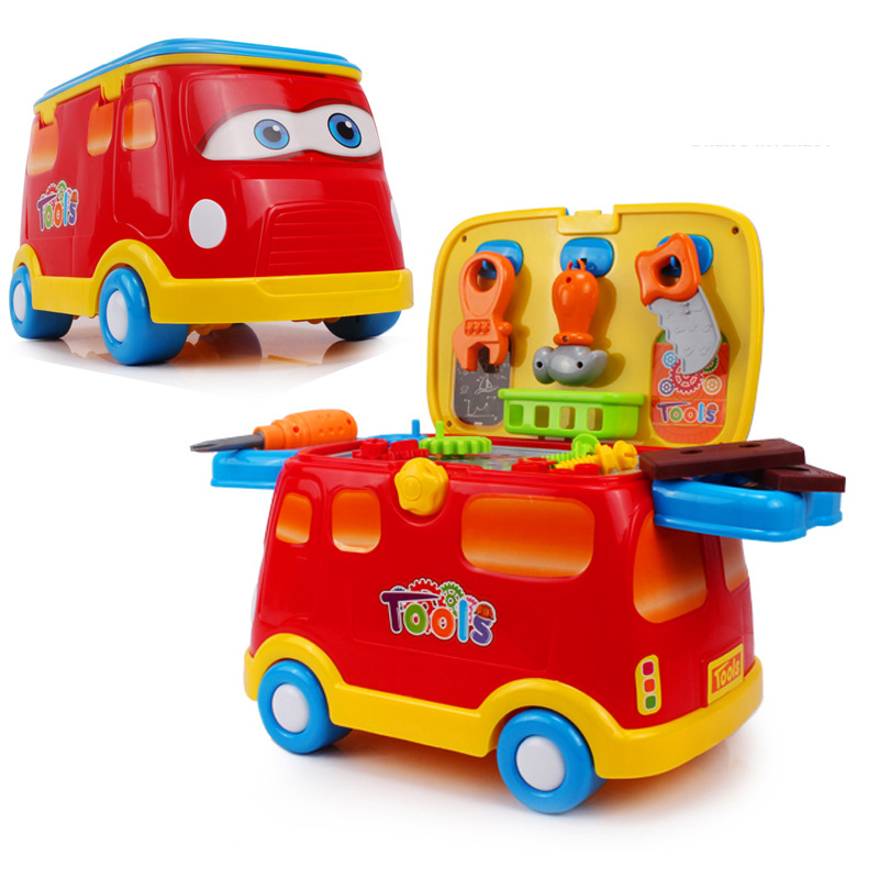 Plastic Workbench Car Baby Kids Children Pretend Play Tool Set Electric Toy Pretend Play Tool Toys For Children TY0184 32pcs set repair tools toy children builders plastic fancy party costume accessories set kids pretend play classic toys gift