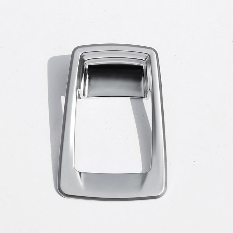 For BMW 218i Gran Tourer F46 Car Accessories ABS Chrome Electronic Handbrake Button Cover Trim 1pc 2015-2017
