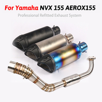 For Yamaha NVX125 NVX155 NVX 155 125 Aerox155 Motorcycle Exhaust Full system Slip on pipe with SC Exhaust Muffler Escape