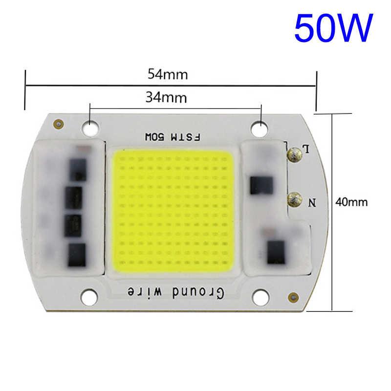20 Вт 30 Вт 50 Вт Светодиодная лампа чип 220 В вход интегрированный умный IC драйвер