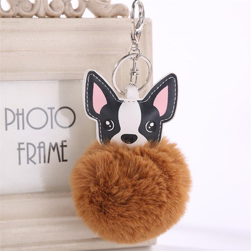 Cool Bulldog Ball Adorable Dog - 2018-Fluffy-Rabbit-Fur-Ball-French-Bulldog-Keychain-Pompom-Key-Chain-Pu-Leather-Cute-Dog-Keyring  Trends_70246  .jpg