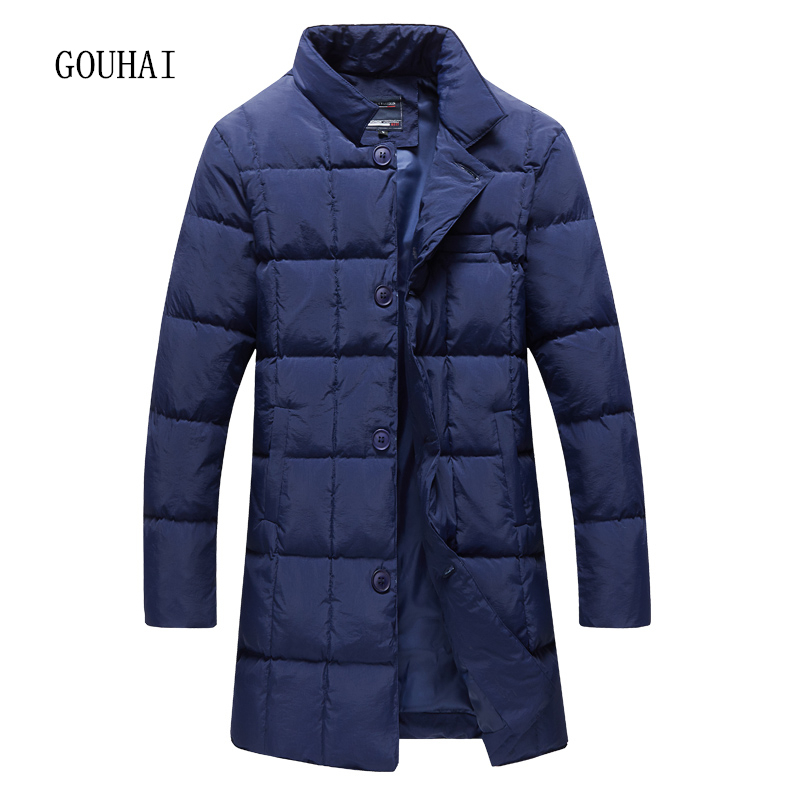 цены  Winter Jacket Men 2017 New Fashion Solid Long Parka Men Stand Collar Single Breasted Plus Size Men's Jacket S-5XL Top Quality