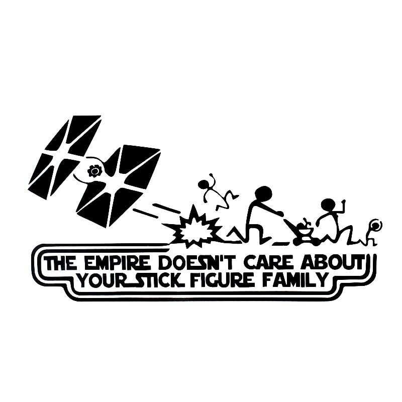 20 см * 10,9 см забавная фигура Империя Звездные войны виниловая наклейка на окно автомобиля Наклейка на мотоцикл наклейки HJ-051
