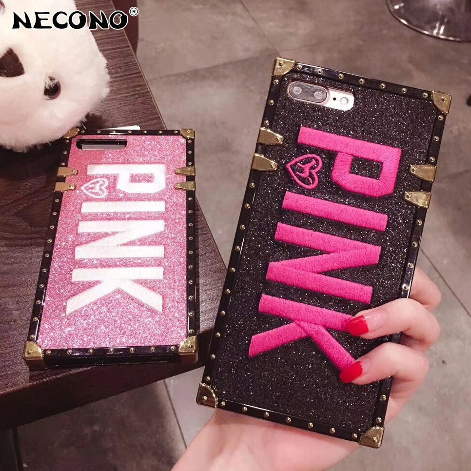 "NECONO Luxury Embroidery 3D ""PINK"" Case"