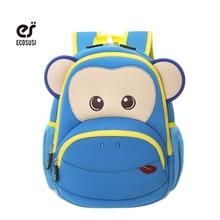 9ff28ccf8be4a Ecosusi الأزرق الوردي قرد الاطفال الطفل الكرتون للماء المدرسة أكياس 3D  الحيوانات على ظهره للفتيات الفتيان الحقائب المدرسية ل 2 -.