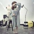 Otoño de Punto Traje 2016 de La Moda Femenina Suéter de Dos Piezas En El Largo Abrigo de Primavera.