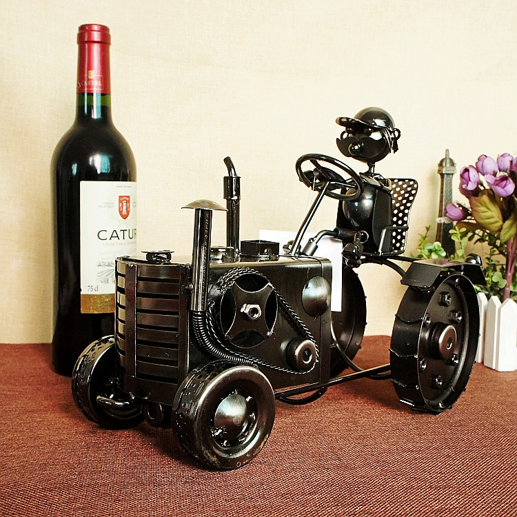 Super Cool Tractor Wine Rack Creative Wine Stand Crafts Home Furnishings Handmade