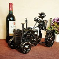 Super Cool Tractor Wine Rack Creative Wine Stand Crafts Home Furnishings Handmade