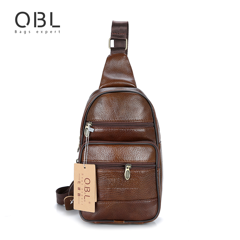 2017 Cow Genuine Leather Mens Sling Bag Single Shoulder Bag Men Chest Crossbody Bag Waist Pack for Man Bolsas Masculina MBA37