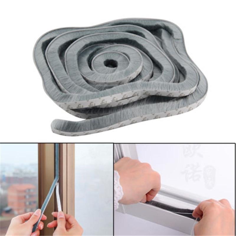 10M Window Self Adhesive Seal Strip Door Draught Excluder Window Pile Seal Film Door Brush Swal Weather Strip For Door Protector