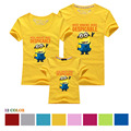 Minion Family Clothes Mother Father Daughter Set Cotton Family T Shirts Despicable Me Minions Family Matching Clothe