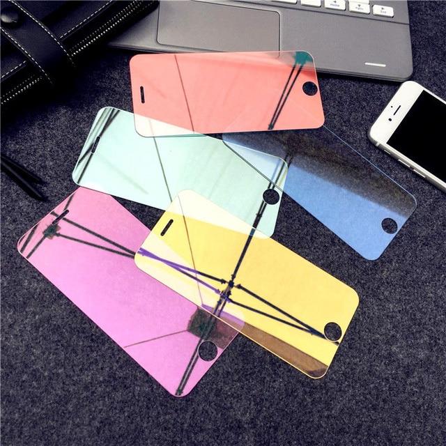 מראה מזג זכוכית עבור iPhone X XR XS מסך מגן זכוכית עבור iPhone 6 6s 7 8 בתוספת 11 12 פרו מגן זכוכית משמר כיסוי