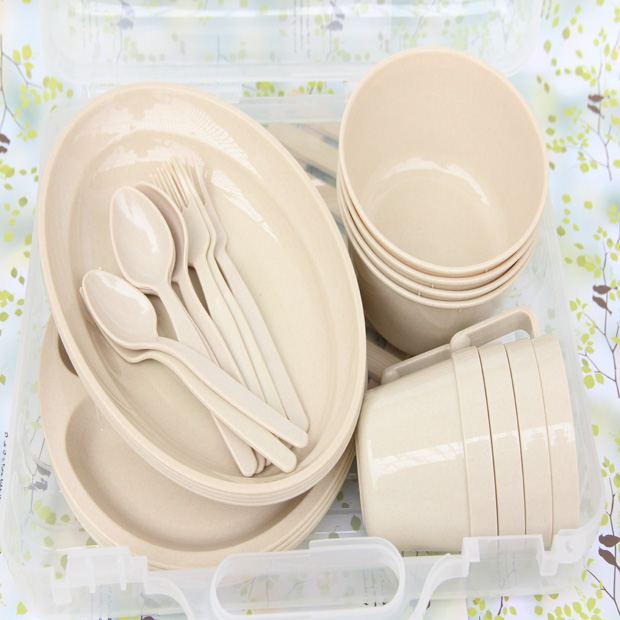 Luxury home outdoor travel picnic portable PP tableware 24 pcs in 1 sets Disposable bowls forks plates cup Split Disks-in Dinnerware Sets from Home \u0026 Garden ... & Luxury home outdoor travel picnic portable PP tableware 24 pcs in 1 ...