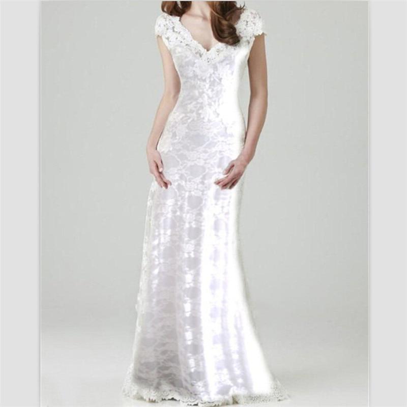 Winter Wedding Gowns 2015: Romatic Lace Bohemian Wedding Dress 2015 Winter Mermaid
