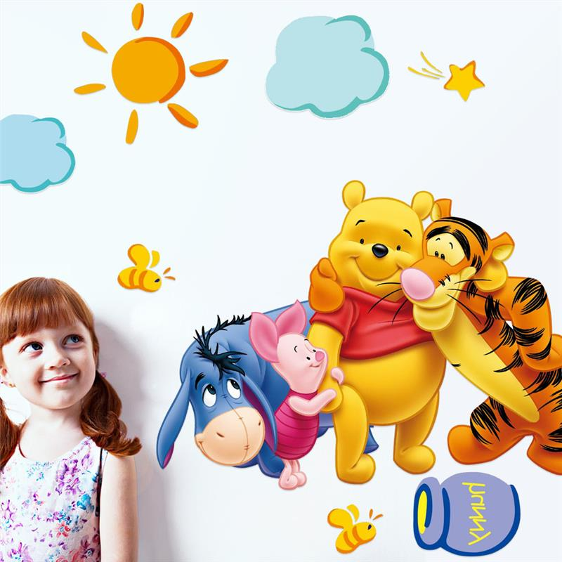 HTB1v_.4IVXXXXcTXpXXq6xXFXXXQ friends with winie pooh wall stickers for kids room decorations 2006. diy pvc animals movie home decals 3d mural art posters 4.0