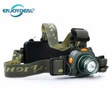 Налобный фонарь 18650 Аккумуляторный рабочий светильник Q5 светодиодный 2000LM движения чувствительный налобный фонарь Точечный светильник инфракрасные датчики для рюкзака охоты