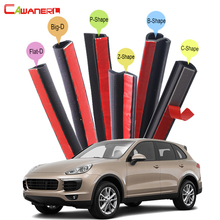 Cawanerl Whole Car Rubber Seal Sealing Strip Kit Weatherstrip Seal Edge Trim Noise Insulation Fit For Porsche Macan Cayenne